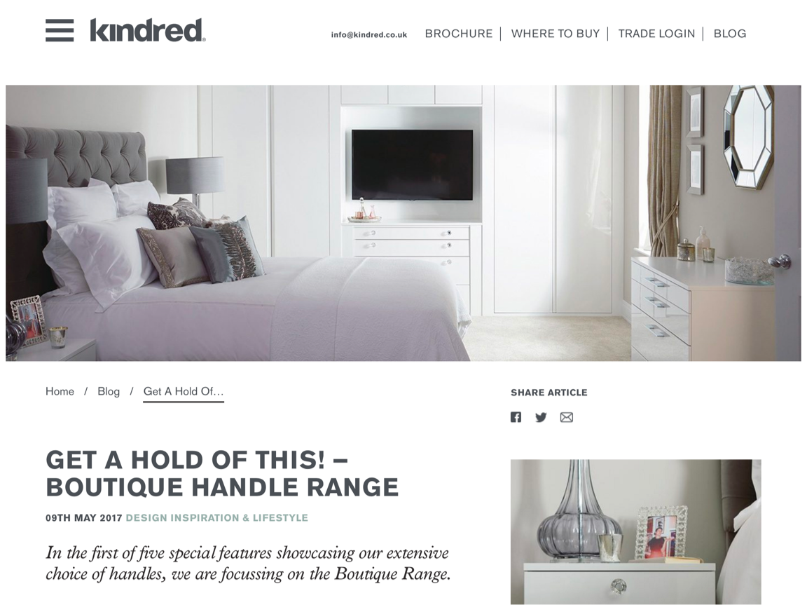 Kindred Bedrooms blog page