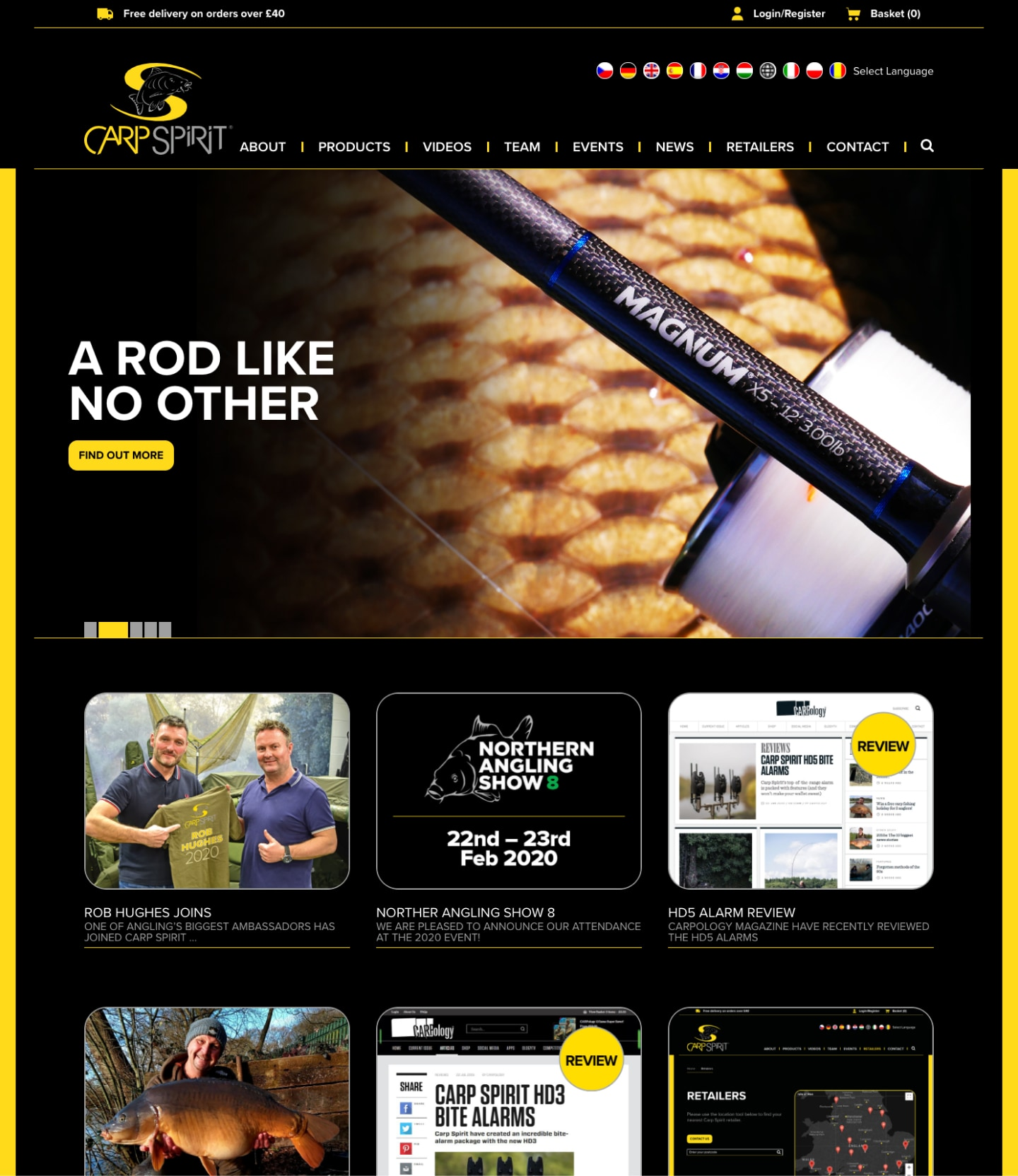 Carp Spirit Homepage screenshot