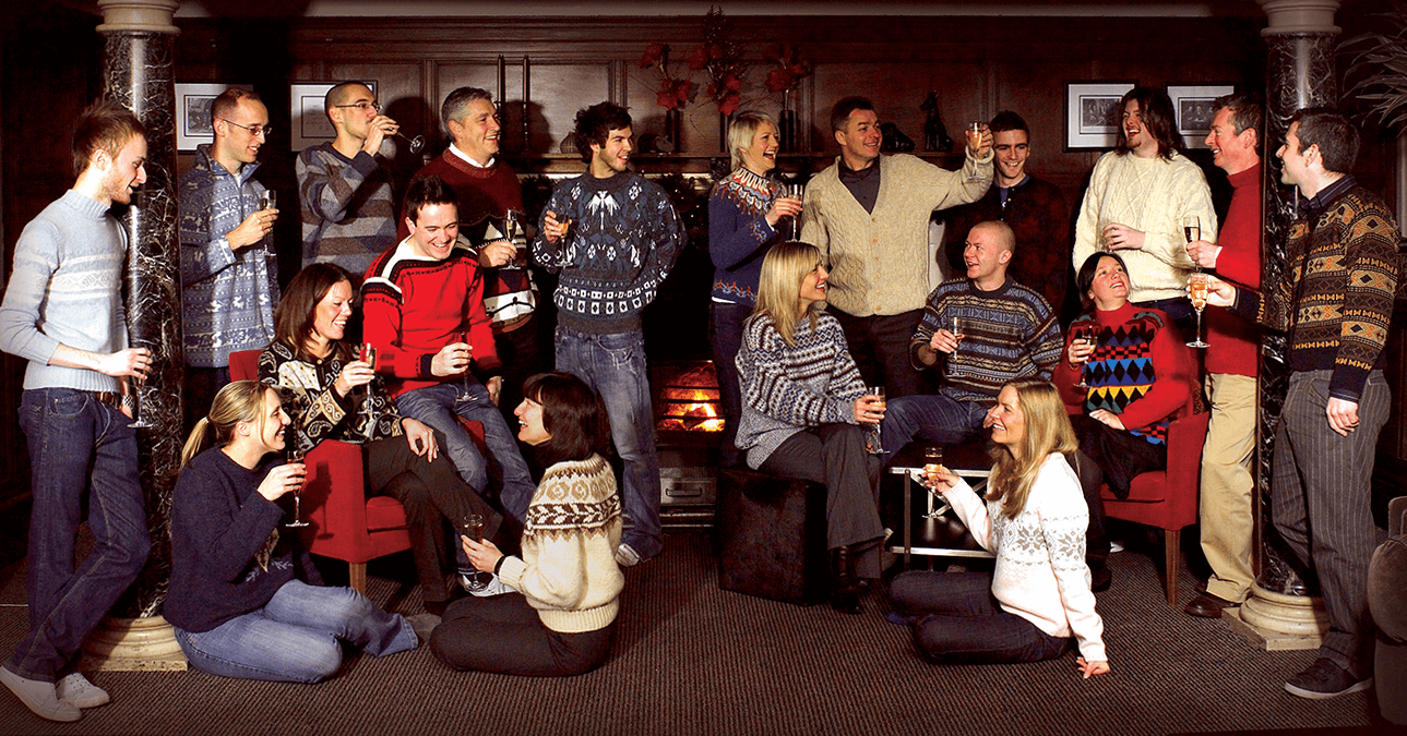 The Roundhouse team posing for a christmas card